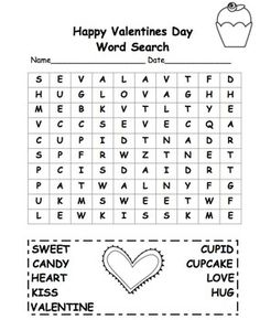 valentine's day word search 2nd grade free | Freebie Valentine Word Search | First Grade Free Stuff