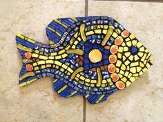 Sun fish mosaic