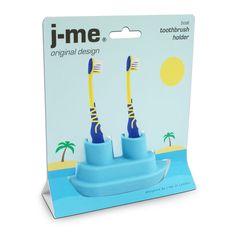 Fabryka Form - Stojak na szczoteczki do zębów podwójny Boat - J-me Kids Boat, Bathroom Sink Storage, Yellow Octopus, Blue Boat, Sink Accessories, Tug Boats, Boat Design, Light Blue Color, Kids Store