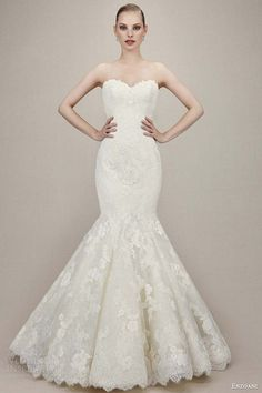 enzoani wedding dresses 2016 bridal kendall strapless sweetheart lace mermaid gown