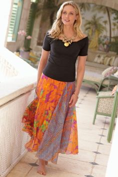 77cef5efe79 soft surroundings...the clothes look so comfortable Long Skirts For Women