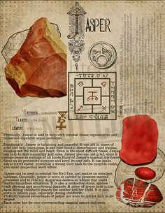 Jasper, Book of Shadows printable page. Crystal Guide, Crystal Magic, Crystals And Gemstones, Stones And Crystals, Grimoire Book, Herbal Magic, Baby Witch, Wicca Witchcraft, Book Of Shadows