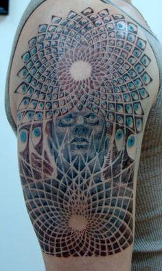 Tattoo design inspired by Alex Grey #DanCamacho.com #Design