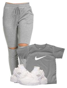 A fashion look from April 2016 featuring NIKE athletic shoes. Browse and shop related looks. Swag Outfits For Girls, Teenage Outfits, Cute Swag Outfits, Chill Outfits, Teen Fashion Outfits, Dope Outfits, Trendy Outfits, Fashion Models, 20s Outfits