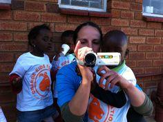 Having fun with the volunteers