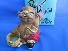 Pendelfin Pipkin - Issued in 1994 and now retired. NIB Turquoise or Red avail. eBay....just cute skatingrandma