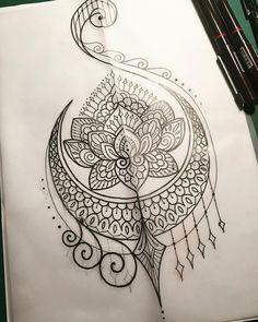 Tattoo lotus henna, lotusbloemmandala tattoo, mandala art, henna mehndi, me Tattoo Drawings, Body Art Tattoos, New Tattoos, Mandalas Painting, Mandalas Drawing, Mandala Artwork, Henna Art, Henna Mehndi, Henna Designs