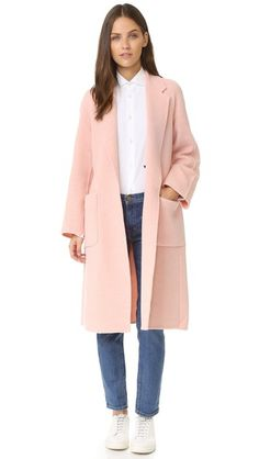 Maje Nude Blush Wool Coat | Currently Obsessed | Pinterest | Maje ...