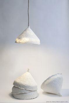 cachette - lampe fait main en papier de lin (4 tailles)
