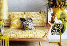 Layered prints. New Christopher Farr Fabric and Wallpaper