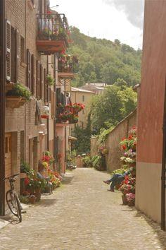 street in Urbania, Italy