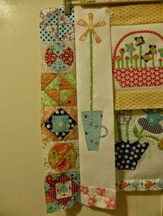 border idea Gossip in the Garden quilt