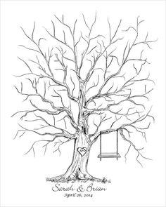 Thumb Tree Guest Book Alternative de mariage livre par fancyprints