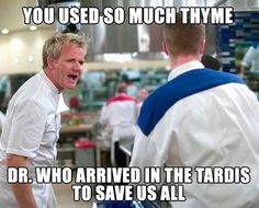 Gordon Ramsey meets Doctor Who and it is hilarious :)