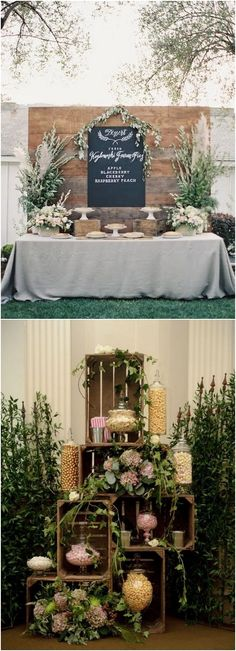 Amazing Wedding Dessert Tables & Displays #rusticwedding #countrywedding #wedding #weddingideas