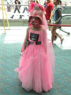 ♥ pink Darth Vader princess costume Love this!