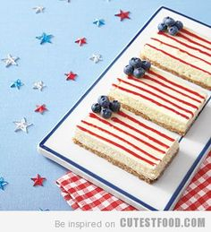 Fruit Finger Food Ideas | Fourth of July Cheesecake | CutestFood.com