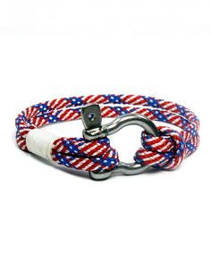 Knotty and Nice  Wear your red, white, and blue on your sleeve with a stylish rope bracelet.