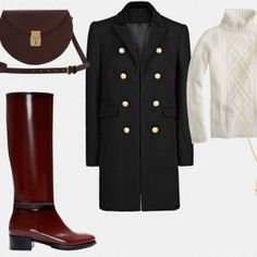 As the weather turns cool, keep warm with fail-proof classics that can be rotated into nearly any occasion or alternative outfit, like dark blue denim, rich leather boots, ivory wool cable-knits, gold engraved buttons stitched onto dark-double breasted wool, and newer classics like Lizzy Disney's demi-lune leather bag. Finish the look off with a crystal pendant from Pushmataaha.-Shenwan W