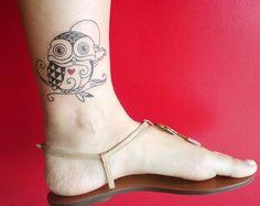 Beautiful Ankle Tattoo Design