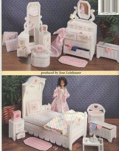 labores de esther. todo para barbie: Dormitorio para barbie en plasticcanvas