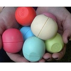 I love EOS! I got the strawberry sorbet and summer fruit a few days ago. My lips used to be really chapped, but this is the only lip balm I like that keeps my lips moist and smooth! Just Girly Things, All Things Beauty, Beauty Make Up, Hair Beauty, Girly Stuff, Eos Products, Beauty Products, Makeup Products, Eos Chapstick
