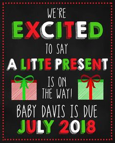 Christmas Pregnancy Announcement/A Little Present Is On The