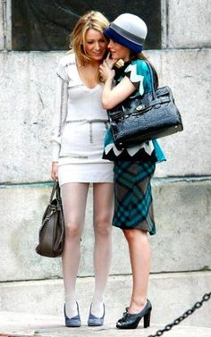 Blair and Serena on Gossip Girl.
