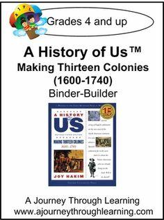 A History Of Us Book 2 Making Thirteen Colonies Binder Builder Enjoy This