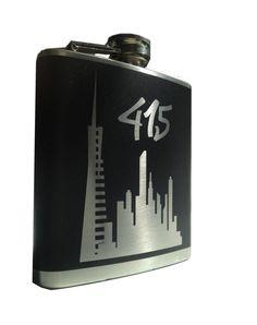 415 San Francisco Flask transamerica by @EyvalDecal #sfetsyteam