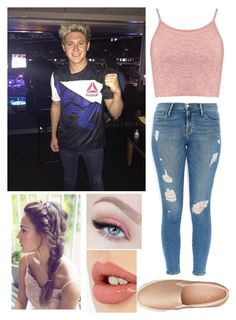 """game night with Niall"" by katiebarrientos20 ❤ liked on Polyvore featuring Boohoo, Frame Denim, American Eagle Outfitters and Charlotte Tilbury"