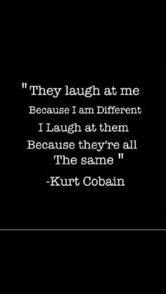 Love this... Wasn't a fan but Kurt had an amazing mind! Respect Kurt, R.I.P.