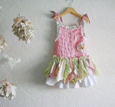 Shabby Chic Dress Made to Order Upcycled Tattered Sundress Lace Drop Waist Toddler | Flickr - Photo Sharing!