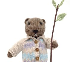 Beaver with Sweater Coat Knitting Pattern by fuzzymitten on Etsy, $2.99