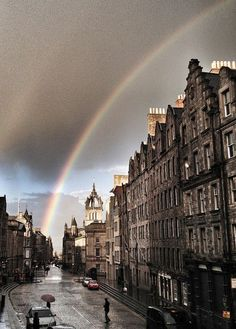 After The Rain, Edinburgh, Scotland. Last time we visited Edinburgh, it poured the whole day, so loving this pic! Places Around The World, Oh The Places You'll Go, Places To Travel, Places To Visit, Around The Worlds, England And Scotland, Scotland Uk, Glasgow Scotland, Scotland Travel