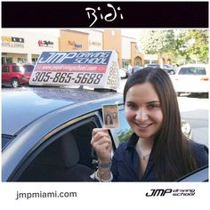 Another safe driver getting the #license with #jmpdriving. Congratulations #drivinglessons #Miami #trafficschool