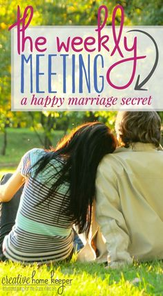Want a strong & happy marriage? Try this! A weekly meeting with your spouse can not only improve your marriage and communication, but your entire family and routines will also benefit as well.