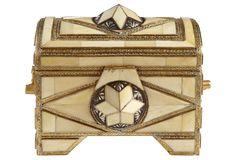 One Kings Lane - Moroccan Bazaar - Cow Horn & Brass Box