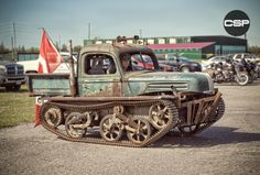 "citystreetphotos:  Frankentank ""Bush Baby"" Awesome rat Rod from Ontario Canada http://citystreetphotos.tumblr.com"