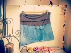 #Minigonne in #jeans con cintura - fascia elastica - #FRIDA #Creazioni