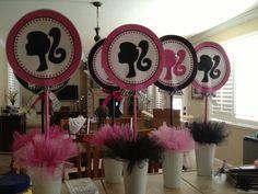 Barbie party centerpieces