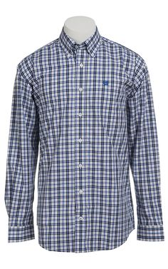 Cinch Long Sleeve Men's Fine Weave Shirt 1103786