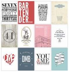 Dave Matthews Band Collection of 4 5x7 Prints by KNY5 on Etsy, $20.00