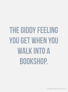 Walking into a bookshop...