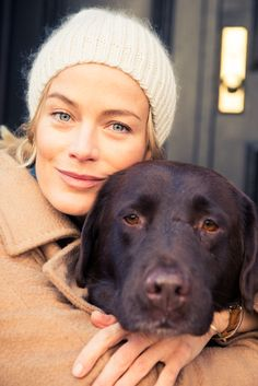 Carolyn Murphy and pup, The Coveteur