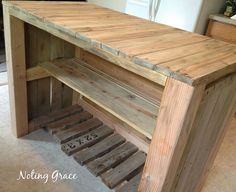 Kitchen Island from Pallets. DIY.  Recycle. Refurbish