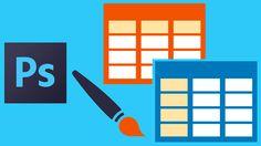 Aprende a diseñar una lista de precios o tabla multipropósito con Photoshop - 5 proyectos de diseño de tablas en Photoshop. Incluye 5 listas de precios en formato PSD para descargar.