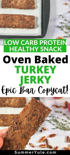 Healthy High Protein Meals, High Protein Recipes, Healthy Snacks, Ground Turkey Jerky Recipe Dehydrator, Dehydrator Recipes, Meat Bar Recipe, Yummy Snacks, Snack Recipes