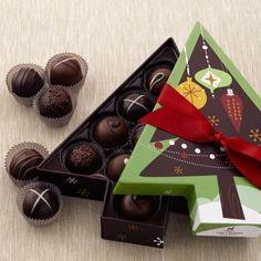 Merry Christmas 9 pc Chocolate Truffles Artisan Toffee Sea Salt Caramels Merry Christmas Happy Holidays Season/'s Greetings