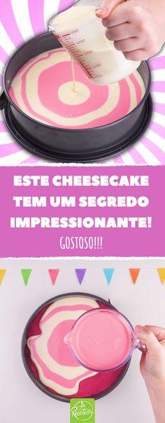 Se prepare para esta receita: cheesecake cremoso. Uma sobremesa que, pelo menos visualmente, é uma espécie de ponto fora da curva, mas muito deliciosa. #cheesecake #bolo #torta #sobremesa #listras #doce #receita #doce #cremoso #receitaoriginal